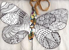 Fifth Child Studio: Zentangle Butterfly