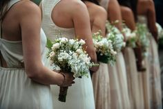 Chic bridesmaids bouquets by In Bloom Florist