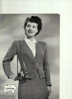 Free vintage knitting pattern - chunky diagonal jacket