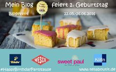 Bloggeburtstag Blogevent Tell About It