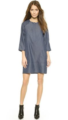 Vince Drape Chambray Dress just in at Swap BR! Size Medium, only $89.99!