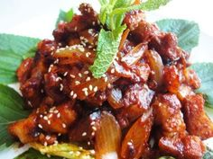 Spicy stir-fried pork    Made this with chicken and it was amazing. Warning: IT'S HOT!
