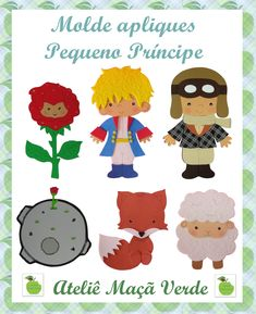 Apliques Pequeno Príncipe                                                                                                                                                                                 Mais Little Prince Party, The Little Prince, Felt Crafts, Diy And Crafts, Paper Crafts, Prince Nursery, Baby Deco, Craft Images, Felt Sheets