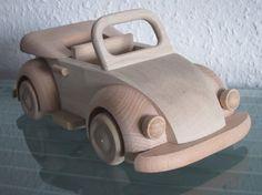 Oldtimer Cabrio Modellauto Auto Unikat Holz