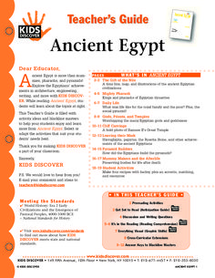 This free Lesson Plan for Kids Discover Ancient Egypt is filled with activities and assessments for you to help kids learn all about pharaohs and pyramids, descriptions of daily life, and a timeline of the most famous dynasties that ruled along the Nile.