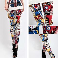 #Comic Strip leggings. #Geek