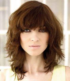 Top 20 Medium Layered Haircuts for Curly Hair. Medium Layered Haircuts with Bangs. Medium Haircuts With Bangs, Medium Layered Haircuts, Medium Hair Cuts, Hairstyles With Bangs, Medium Hair Styles, Layered Hairstyles, Haircut Medium, Modern Hairstyles, Hairstyles 2016