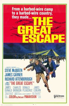 THe Great Escape 1963 yul #brynner steve #mcqueen charles #bronson james #coburn