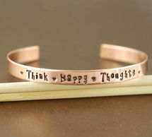 THINK HAPPY THOUGHTS Cuff Bracelet