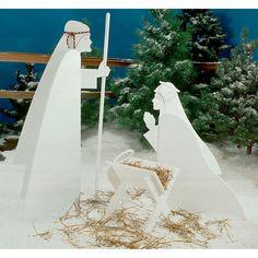 Nativity Scene : Large-format Paper Woodworking Plan