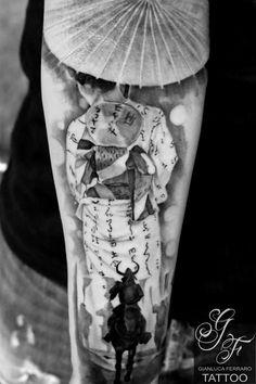#tattoo #tatuaggi #napoli #naples #gianlucaferrarotattoo #italy #realistic #tatuatori #ink #tattedup #tattoooftheday #tattooart #tatuatore #like #fineart #londontattoo #tattoonaples #napolitattoo #londonartist #londonink #japan #japantattoo #tattoooriental #samurai #geisha #umbrella #ombrellino #kimono #lotus #tattooloto #oriental #tattoogeisha #tattoosamurai