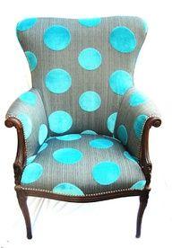 polka dot blue