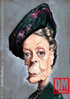 Caricatura de Maggie Smith.