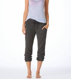 Aerie Classic Banded Bottome Sparkle Sweatpant. Size small. Charcoal Heather Grey