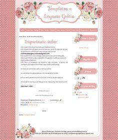 Layout Grátis para Blog: Flowers - Cantinho do blog Layouts e Templates para Blogger