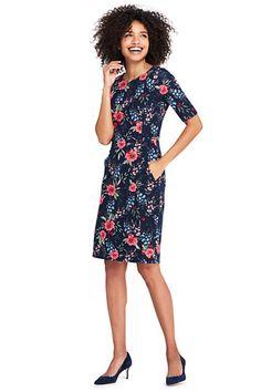 86ec1f13a8 Women s Elbow Sleeve Ponte Sheath Dress