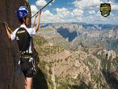 INFORMACIÓN BARRANCAS DEL COBRE te dice  la Escalada en Roca se puede realizar en la zona de las barrancas ya que esta  ofrece inmejorables escenarios para la práctica de este deporte.  en la barranca de Candameña, se encuentra el Gigante, con 884 metros de vertical constante, ahí se han equipado 5 rutas cuyos grados de dificultad son de 5.12 y 5.13. http://www.chihuahua.gob.mx/turismoweb/