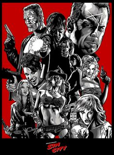 Sin City - Graphic Film Poster Variant - Art Print