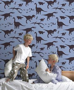 What room in your house needs dinosaur wallpaper?
