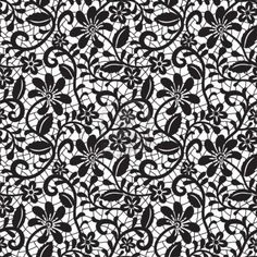Illustration about Black seamless lace pattern on white background. Illustration of leaves, baroque, mesh - 26567798 Stencil Patterns, Lace Patterns, White Patterns, Pattern Art, Print Patterns, Lace Stencil, Pattern Fabric, Paper Background, Background Patterns