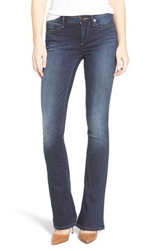 Free shipping and returns on True Religion Brand Jeans Jennie Curvy Bootcut Jeans (Native Orca Clean) at Nordstrom.com. Stretch-denim jeans cut to flatter curves feature an ultra-flattering dark wash and a sleek, figure-balancing bootcut silhouette. Signature horseshoe contrast stitching finishes the back pockets.