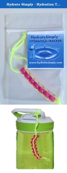 Hydrate Simply - Hydration Tracker (Yellow-green Cord / Pink Beads). Enjoy the benefits of improved hydration with this simple and fun hydration tracker. Our unique design allows you to track fluid consumption by simply moving a bead each time you fill up your water bottle. The benefits of this product are enormous - why you should use the PeaK Hydration - Hydration Tracker: 1. Even with the right diet and exercise you won't reach your full potential without appropriate hydration 2. 75%…