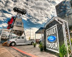 Truck Tough -   There's nothing like a big tough truck when going for groceries or to the movies. And while this isn't meant to be an advertisement, my preference is Ford. I'm sure the other brands have great reasons why they are great too, but's it's the brand I like. We all have preferences for certain things. Food, music, people, and even trucks. We like what we like and can't explain why.   http://www.timstanleyphotography.com/2012/03/truck-tough/
