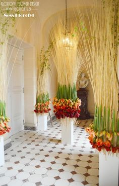 Amaryllis - Château de Beloeil designed by Ness Klorofyl and Sarah Meersschaut. #bruidsboeket #romantic #bouquetdemariée #hautecouture #weddingbouquet #instaflowers #jewelry #fleur #flowers #florist #artfloral #floraldesign #ness #klorofyl #dilbeek #instaart #design #floraldesigner #decoration #vintage #love #peacock #artnouveau #avantgarde #love #bulldoglovers #certifiedcraft Art Floral, Art Nouveau, Flower Head Wreaths, Event Solutions, Team Building Events, Wedding Decorations, Table Decorations, Event Design, Flower Designs