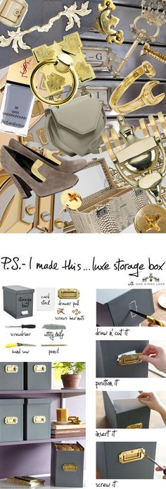 P.S.- I made this...Luxe Storage Box with @OneKingsLane #PSIMADETHIS #DIY