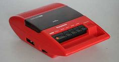 red tape recorder 1982 | Panasonic RQ-44 Portable Cassette Recorder// got one exactly like this for my 9th birthday
