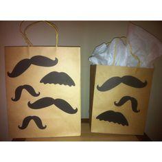 Mustache birthday bags
