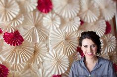 Decoración rosetones de papel