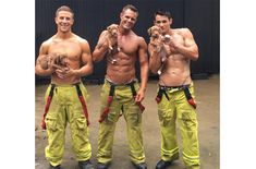 We're drooling for the Australian Firefighters Calendar. You can't go wrong with puppies and firefighters.