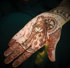 Real Indian Wedding - Utsav and Harin | WedMeGood | Intricate Mehnedi Hand…