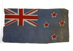 New Zealand flag from Quinns Post | NZHistory, New Zealand history online