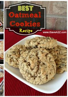 These are the BEST Oatmeal Cookies you will ever try! Soft and Chewy! YUM!