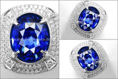 Sparkling Royal BLUE SAFIR Srilanka GRS  ( SPC 322 )