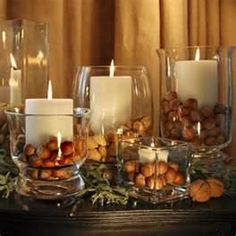natural holiday decorations  NUTS IN SHELL ARE GREAT MOTIFS TO USE IN DECOR ON TABLE