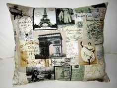 Paris French Country Pillow Antique by frenchcountrydesigns, $15.99