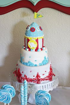 Circus Carnival Party Cake Ideas. See more at www.karaspartyideas.com