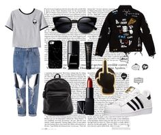 """Comfy style"" by kisskatabogi ❤ liked on Polyvore featuring Chicnova Fashion, Glamorous, adidas, Casetify, Chanel, NARS Cosmetics, Topshop and PINTRILL"