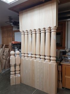 These porchposts are our Vermont pattern. They are shown with 2 matching newel posts. Decor, Newel Posts, Wood, Porch Posts, Home Decor, Curtains, Porch