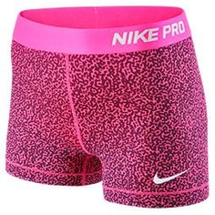 Women's Nike 3 Inch Pro Core Compression Printed Shorts from Finish Line. Saved to cheer bows & nike pros🎀✔️. Nike Compression Shorts, Nike Spandex Shorts, Nike Pro Shorts, Gym Shorts Womens, Cheer Shorts, Nike Under Armour, Workout Wear, Nike Workout, Athletic Outfits