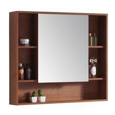 Modern Rustic Interiors Lee 34 x 30 Surface Mount Framed Medicine Cabinet Recessed Medicine Cabinet, Decor, Elegant Vanity, Interior, Shelves, Mirror Cabinets, Cabinet, Tempered Glass Shelves, Modern Rustic Interiors