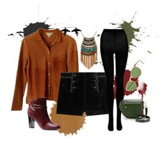Outfit Suede & Velvet by teciane-ro on Polyvore featuring moda, Emilio Pucci, Isolá, Rebecca Minkoff, Leslie Danzis, olgafacesrok, Oliver Peoples, outfit, Boots and suede