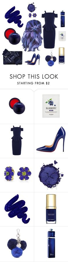 """Blueberry Fruity Cutie"" by tinatoldme ❤ liked on Polyvore featuring TONYMOLY, Raoul, Christian Louboutin, Bling Jewelry, Pat McGrath, Obsessive Compulsive Cosmetics, Dolce&Gabbana, Nine West, Christian Dior and Delpozo"