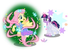 Cinderella & Fairy Godmother [as My Little Pony] (As My Little Pony by MeganLovesAngryBirds @deviantART) #Cinderella