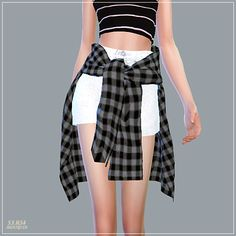 Sims 4 CC's - The Best: Hot Pants With Shirts by Marigold Sims 4 CCs - Das Beste: Hotpants mit Hemden von Marigold Hot Pants, Sims 4 Cas, Sims Cc, Marigold Sims 4, Mods Sims, Outfits For Teens, Short Outfits, Maxis, The Sims 4 Cabelos