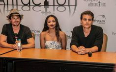 Ian Somerhalder~ Kat Graham~ Paul Wesley at 2015 Vampire Attraction Con in Brazil (05/02/15)