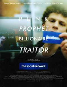 The Social Network. This movie won the Oscar for Best Adapted Screenplay at the Oscars 2011.